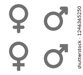 set of male and female symbols  | Shutterstock .eps vector #1246365250