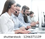 call center employee in the... | Shutterstock . vector #1246371139