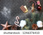 christmas. new year. winter.... | Shutterstock . vector #1246376410