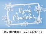 christmas frame with... | Shutterstock .eps vector #1246376446