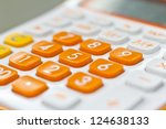 calculator to aid the fast and... | Shutterstock . vector #124638133
