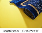 muslim prayer rug and space for ... | Shutterstock . vector #1246390549