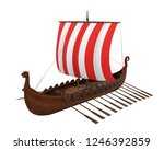 viking ship isolated. 3d...   Shutterstock . vector #1246392859