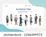 business teams making agreement.... | Shutterstock .eps vector #1246399573