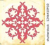 retro baroque decorations... | Shutterstock .eps vector #1246410910