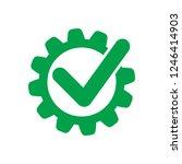 cog check icon. check mark in... | Shutterstock .eps vector #1246414903