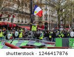 paris  france  12.01.2018 rally ... | Shutterstock . vector #1246417876