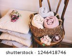 cozy interior details ... | Shutterstock . vector #1246418746