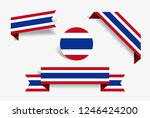 thai flag stickers and labels...   Shutterstock .eps vector #1246424200