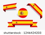 spanish flag stickers and...   Shutterstock .eps vector #1246424203