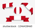 peruvian flag stickers and... | Shutterstock .eps vector #1246428460