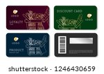 grocery store discount cards... | Shutterstock .eps vector #1246430659