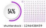 set of circle percentage... | Shutterstock .eps vector #1246438459