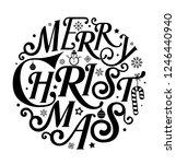 merry christmas in circle art... | Shutterstock .eps vector #1246440940