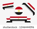 egyptian flag stickers and... | Shutterstock .eps vector #1246444096