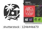 vector resort black glyph... | Shutterstock .eps vector #1246446673