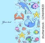 vector illustration of sea... | Shutterstock .eps vector #124644820