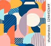 contemporary abstract seamless... | Shutterstock .eps vector #1246452649