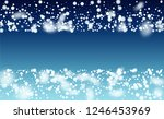realistic snow background.... | Shutterstock .eps vector #1246453969
