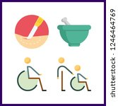 4 therapy icon. vector...   Shutterstock .eps vector #1246464769