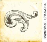 retro baroque decorations... | Shutterstock .eps vector #1246466716