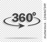 vector image turn sign 360... | Shutterstock .eps vector #1246467349