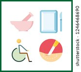 4 therapy icon. vector...   Shutterstock .eps vector #1246468690