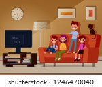 the children are sitting on the ... | Shutterstock .eps vector #1246470040