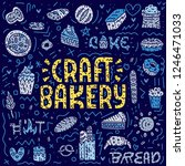 craft bakery lettering card.... | Shutterstock .eps vector #1246471033