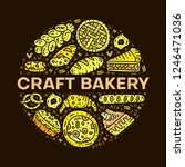 craft bakery. circle vector... | Shutterstock .eps vector #1246471036