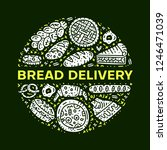 bread delivery. circle vector... | Shutterstock .eps vector #1246471039