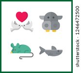 4 wildlife icon. vector... | Shutterstock .eps vector #1246472500