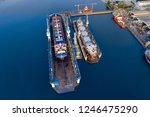 shipyard continuously aims to...   Shutterstock . vector #1246475290