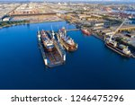 shipyard continuously aims to...   Shutterstock . vector #1246475296