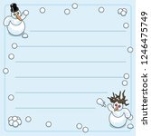 snowman and snow woman during a ... | Shutterstock .eps vector #1246475749