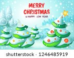 christmas background with... | Shutterstock .eps vector #1246485919