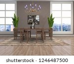 interior dining area. 3d... | Shutterstock . vector #1246487500