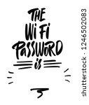 wifi password poster | Shutterstock .eps vector #1246502083