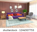 interior of the living room. 3d ... | Shutterstock . vector #1246507753