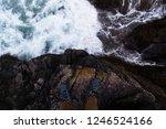 traveler legs above cliff ... | Shutterstock . vector #1246524166