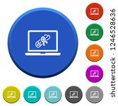 webinar on laptop round color... | Shutterstock .eps vector #1246528636