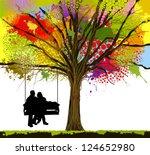 love tree. swing