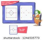 visual educational game for... | Shutterstock .eps vector #1246535773