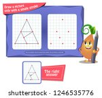 visual educational game for... | Shutterstock .eps vector #1246535776