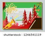 happy new year greeting card... | Shutterstock .eps vector #1246541119