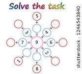 worksheet. mathematical puzzle...   Shutterstock .eps vector #1246543840