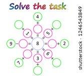 worksheet. mathematical puzzle...   Shutterstock .eps vector #1246543849