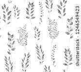 silver glitter  floral element... | Shutterstock .eps vector #1246549423