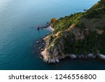 sea tropical landscape with...   Shutterstock . vector #1246556800