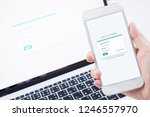 login screen on your phone and... | Shutterstock . vector #1246557970